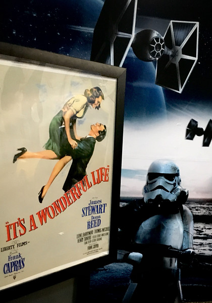 A movie poster in a athletic facility