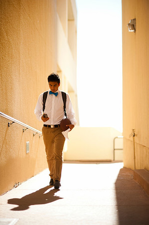RON HALL  | Student walking