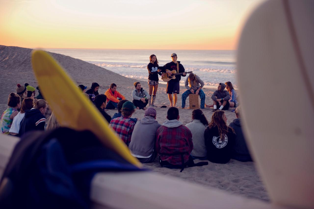 Ron Hall   Surf Group at Zuma Beach