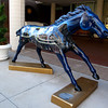 Local artists painted race horses and placed allover downtown Louisville.