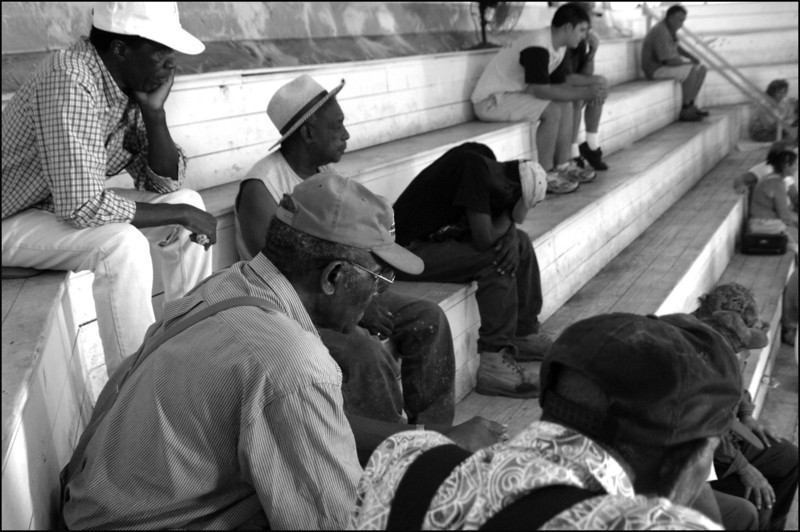 Men at a livestock auction, Andrews South Carolina.