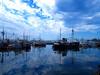 Newport Harbor, Or. with bridge in background.