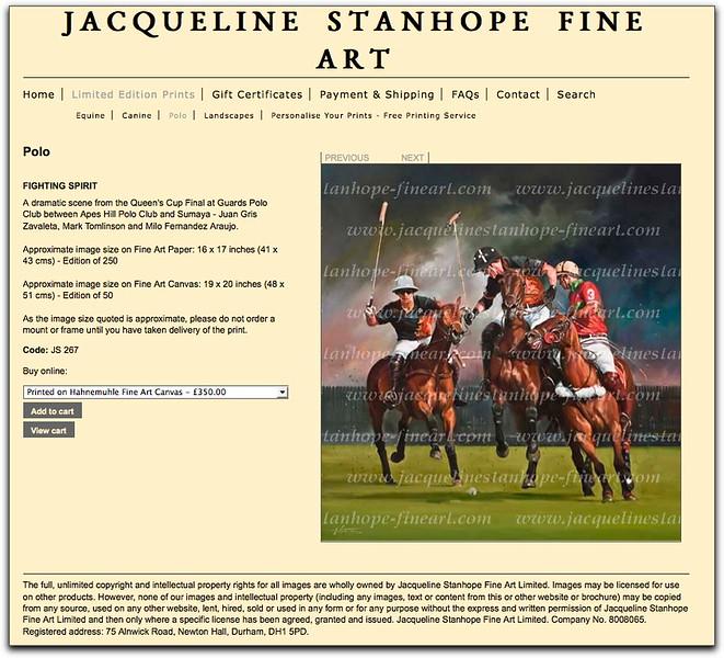 JACQUELINE STANHOPE HORSE ART