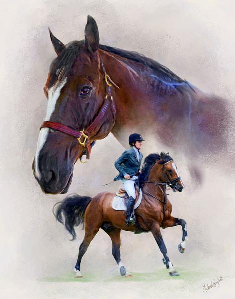 horse double 11x14