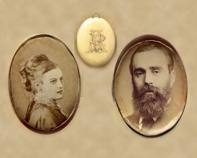 Locket Arthur Campbell portraits