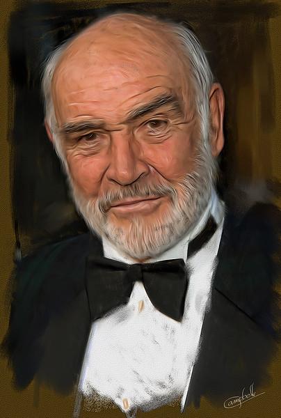 Sean-Connery-oil-sketch