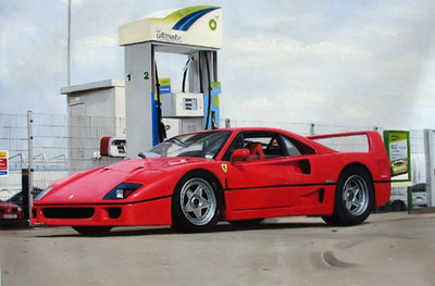 Ferrari_F40_Painting