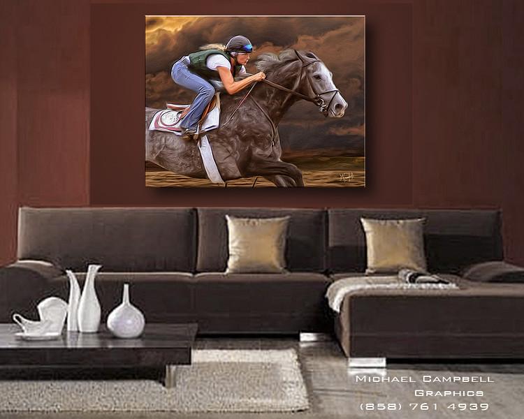 HorseCloudsSofa