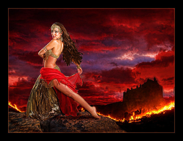 Ansuya as fire goddess