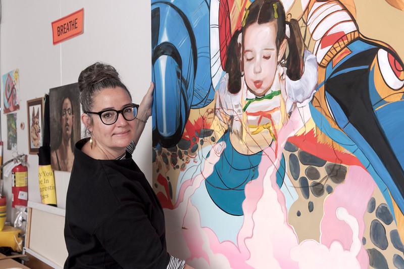 Artists and teacher