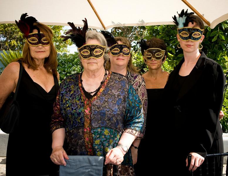 Ladies,  a la masquerade.