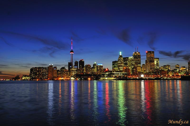 DECEMBER #3<br /> <br /> Toronto Skyline at night.  No colour added.