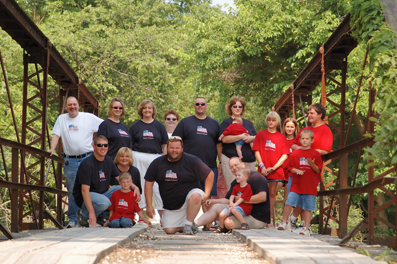 Family Portrait captured just outside of Perry, Missouri on an old iron bridge over Mark Twain Lake's Lick Creek