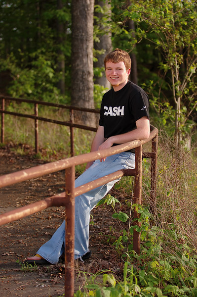 Senior Portrait by the old rail on Mark Twain Lake