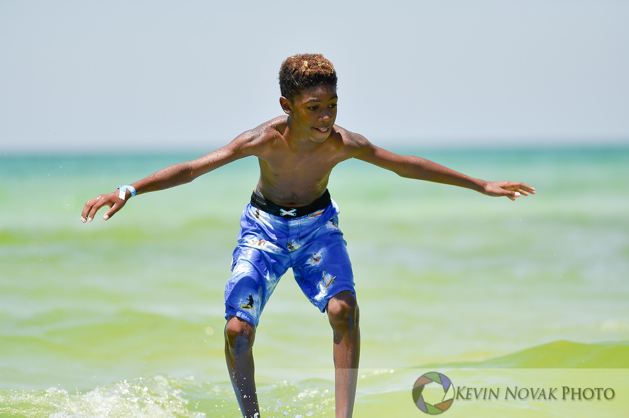 June 25, 2016. Autism Surfs, Panama City Beach County Pier.  © 2016 Kevin Novak