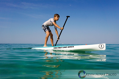 May 9, 2015, Destin, FL--GUSU PSUP Paddleboard Race Series.  Digging deep.  ©2015 Kevin Novak.