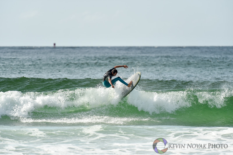 November 17, 2015: Panama City Beach, FL.  Surfing, St. Andrews State Park.