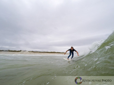 November 19, 2015: Panama City Beach, FL.  Surfing, St. Andrews State Park.