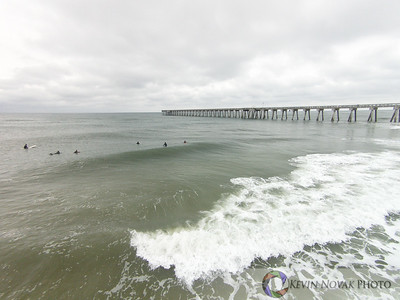 February 17, 2015, Panama City Beach, FL. Surfing, County Pier. ©2015 Kevin Novak.