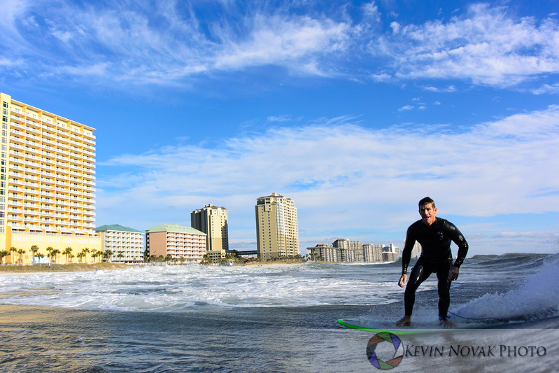 November 17, 2014, Panama City Beach, FL. Surfing, County Pier, Storm Swell. ©2014 Kevin Novak.
