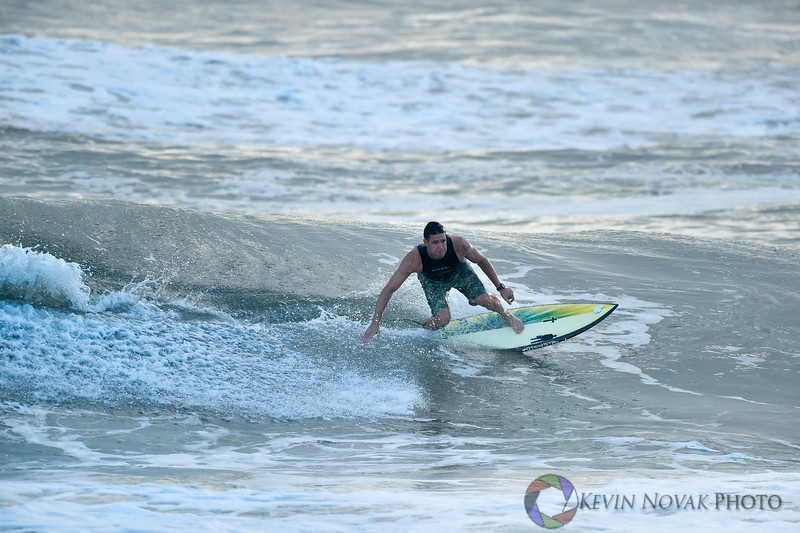 October 27, 2015: Panama City Beach, FL.  Surfing, St. Andrews State Park.