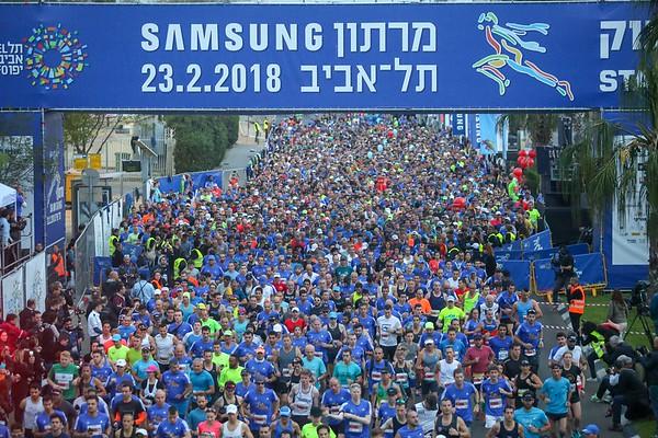 180223 | תל אביב 2018 - על המסלול SAMSUNG מרתון