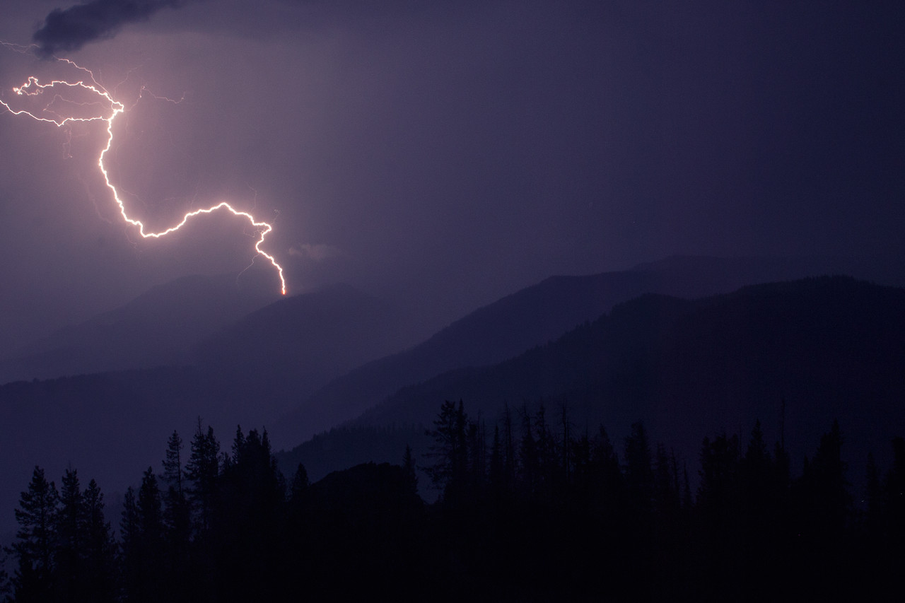 lightning strike into the Minam drainage, Eagle Cap Wilderness, Union County, Oregon, 2013