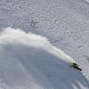 Snowboarden op volle snelheid