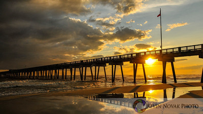Sunset at the Panama City Beach, FL City Pier.  ©2012 Kevin Novak.