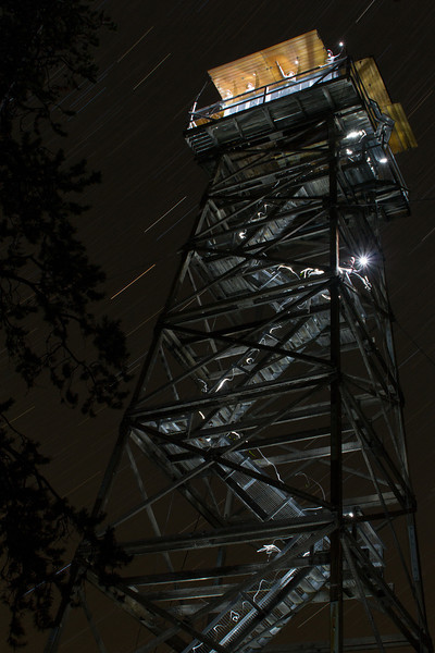 Point Prominence Fire Lookout, night, Wallowa Whitman NF,Oregon 2012