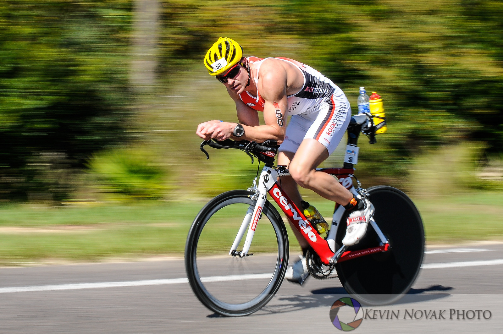 Bicycle portion of the 2013 Florida Ironman Triathlon held in Panama City Beach, FL 11-2-13.  ©2013 Kevin Novak.