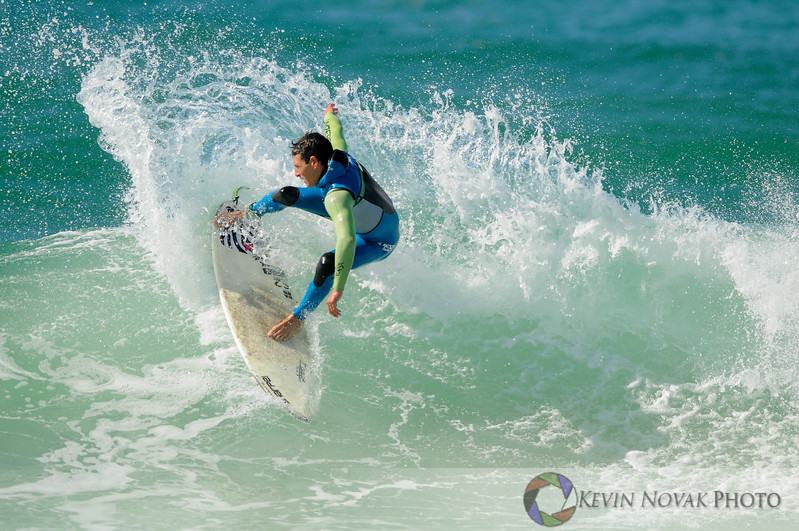 Surfing action at Panama City Beach County Pier/Mr. Surf's Cold Water Classic, 2-15-14.  ©2014 Kevin Novak.