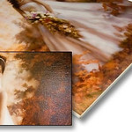 Canvas Board prints   Canvas Board prints are mounted onto sturdy Gator Foamboard, a very rigid foamboard and lightweight backing with a white finish.