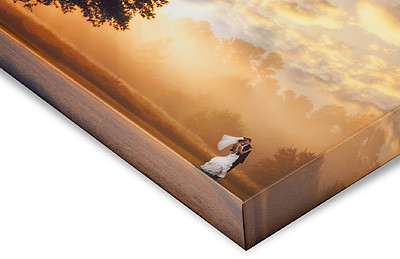 "Canvas Wrap prints  Canvas Wrap prints are a stylish, low-cost alternative to traditional framing. The print is wrapped around a stretcher frame so that 1 1/2"" of the photo's edges are visible on the sides of the frame. They're delivered display-ready with hanging hardware attached."