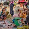 Mekong giant stingray flesh for sale, Stung Treng, Cambodia,2014