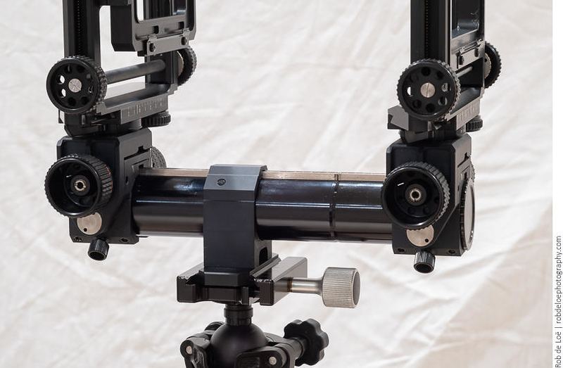 The supplied Toyo rail is 24cm when the two sections are used. The standards and the tripod block will not fit on just the short section, but they fit easily on the long section, and allow enough distance for use of longer symmetrical lenses that need the standards farther apart.