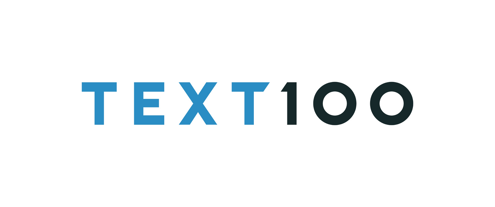 Text 100 logo (photo credit. Text100.com)