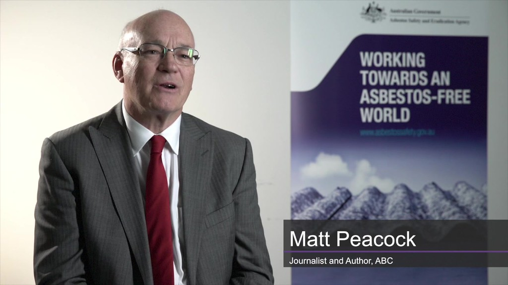 Matt Peacock (photo credit: Asbestos Safety and Eradication Agency)