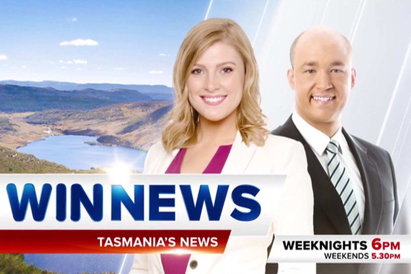 WIN NEWS Tasmania bulletin team (photo credit: ABC)