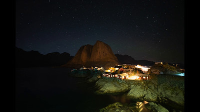 Timelapse Hamnoy bridge