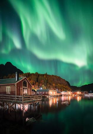 Aurora over Nusfjord