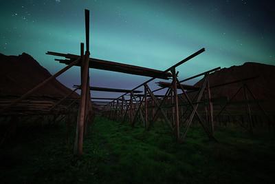 Stokvistekken in het noorderlicht