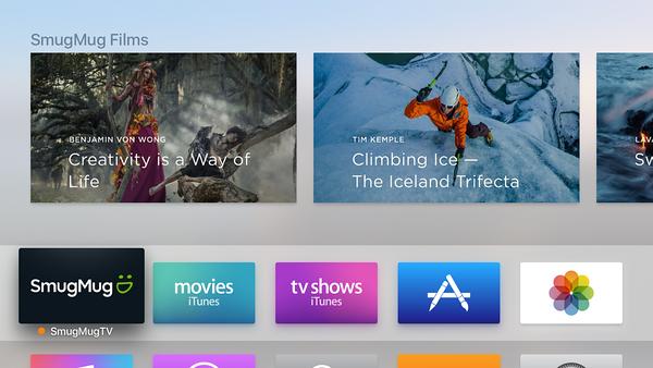 SmugMug op de Apple TV
