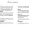 Shooting Locations