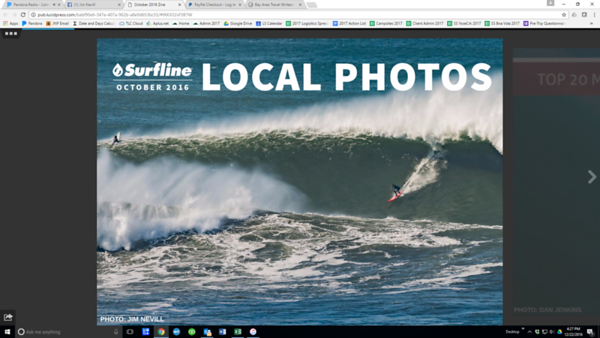 Cover Shot, October 2016 Surfline Local Pro eZine