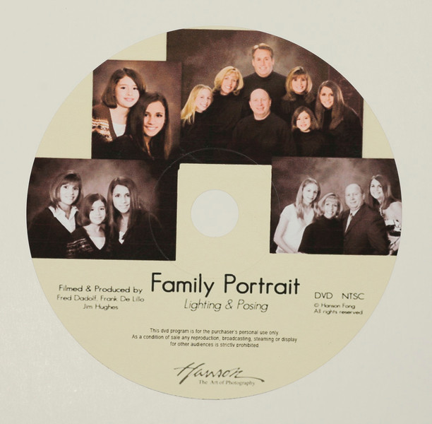 Family Portrait DVD $59<br /> <br /> Easy posing and lighting techniques for families of any size!