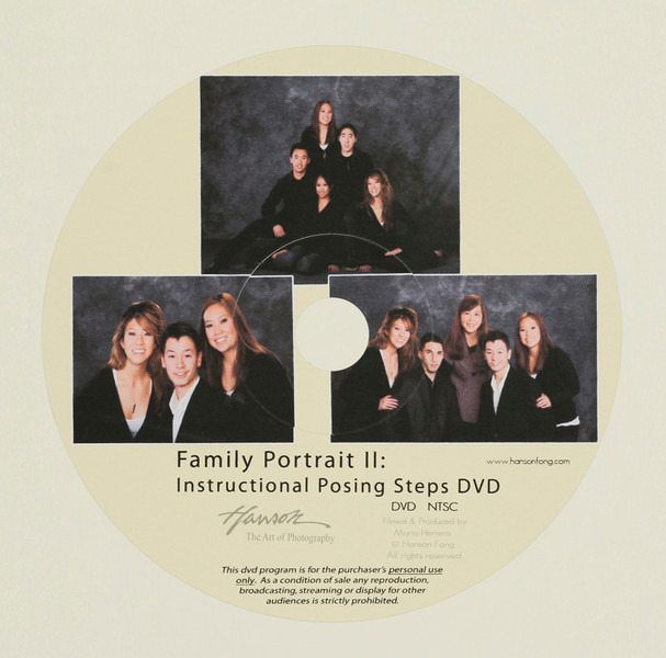 Family Portrait II: Instructional Posing Steps DVD $59<br /> (free with purchase of any EZ Step)<br /> <br /> Instructional posing DVD using Hanson's EZ steps for family grouping, indoors and outdoors.