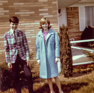 First girlfriend....circa Easter 1966.