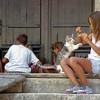 Croatian Girls with Kitten.