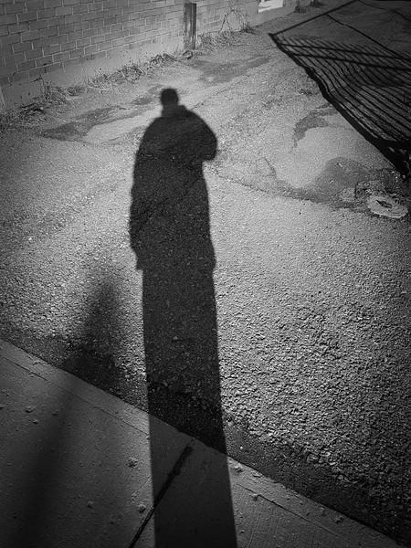 B&W Selfie Shadow